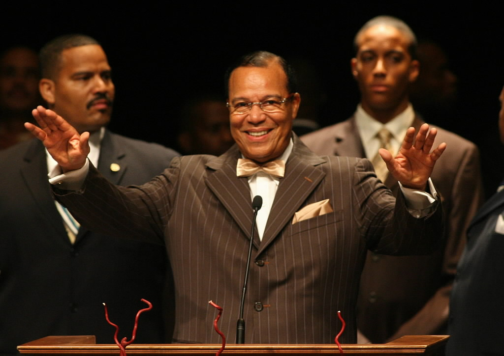 412363 bytes; 2054 x 1455; Nation of Islam Minister Louis Farrakhan speaks  during the Holy Day of Atonement which also commemo