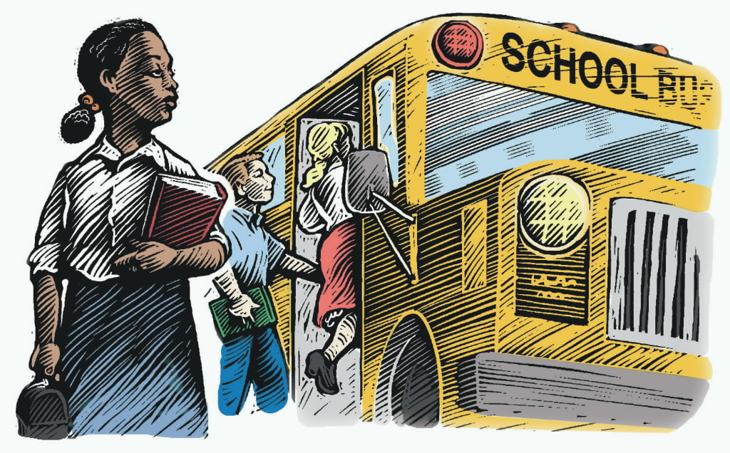 831191 bytes; 1500 x 932; LETTERS FOLEY COLORIZED editillustration education school bus segregation choice student